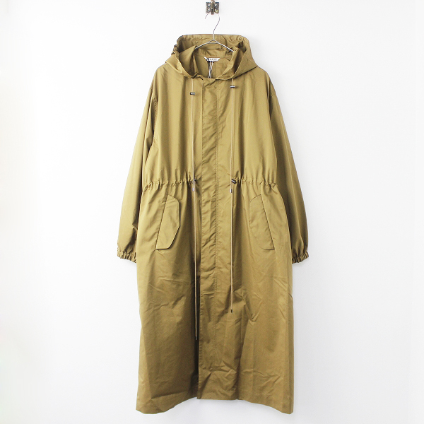 A9SC04PW LIGHT FINX POLYESTER LONG HOODED COAT