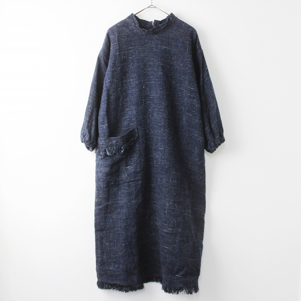8035047 コットン リネン クバ ツイードのドレス
