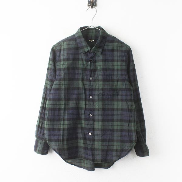 ブラックウォッチ コットン シルク ポケット シャツ