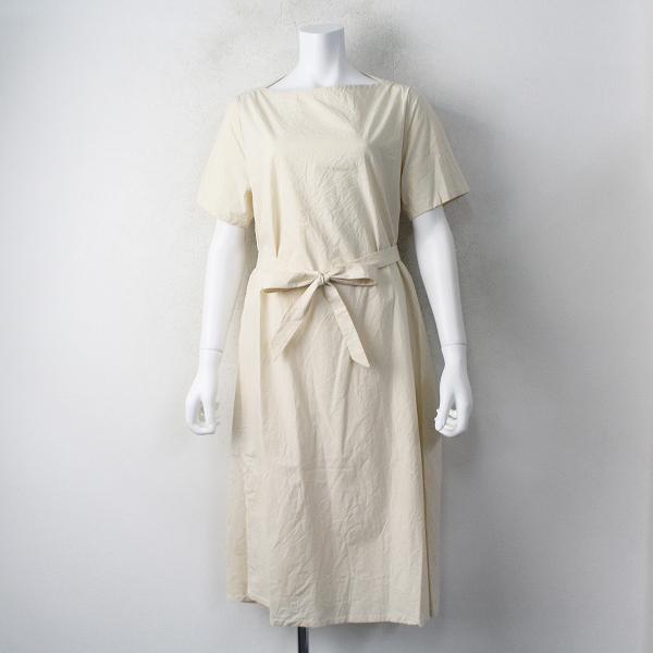 コットン リネン ラップ ドレス