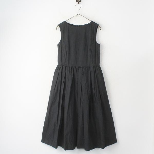 コットン リネン タック ドレス スリーブレス