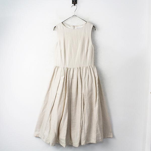 YAECAリネン タック ドレス スリーブレス