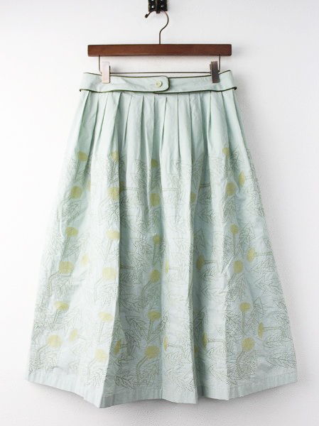 ws5062 tanpopo 刺繍 フレア スカート