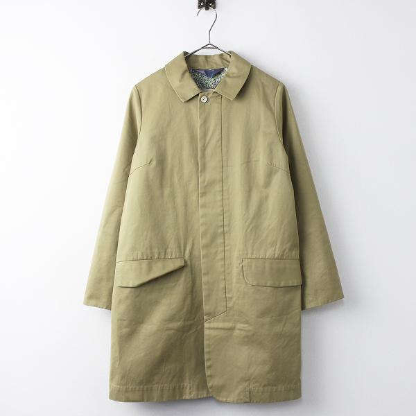 コットン ステンカラー コート