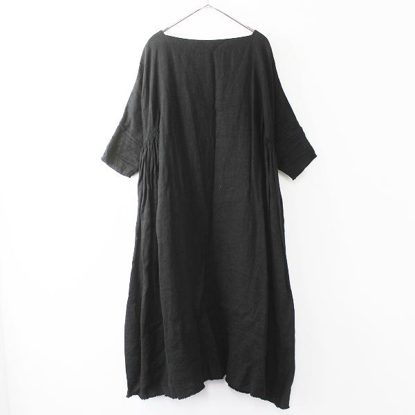 VeritecoeurVC-1230 リネン サイド ギャザー ドレス