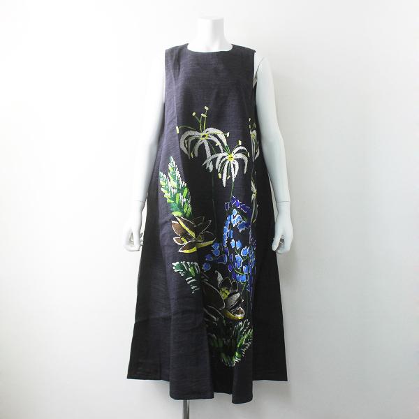 45rpmギマ アロハ刺繍 ワンピース