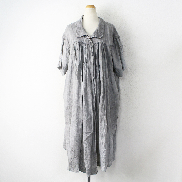 TOUJOURS Combination Robe - Natural Over Dye Soft Linen Cloth