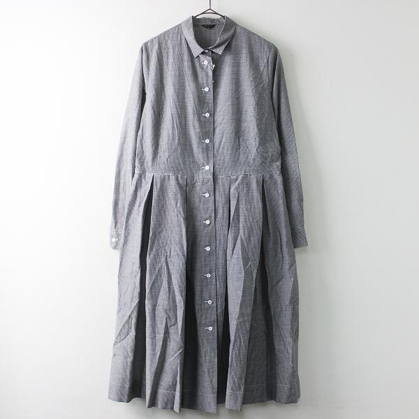 R&D.M.Co-コットン シルク タック シャツ ドレス ワンピース