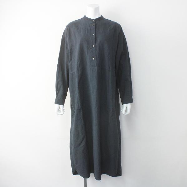 ARTS&SCIENCEStitched yoke shirt バンドカラー シャツ ワンピース