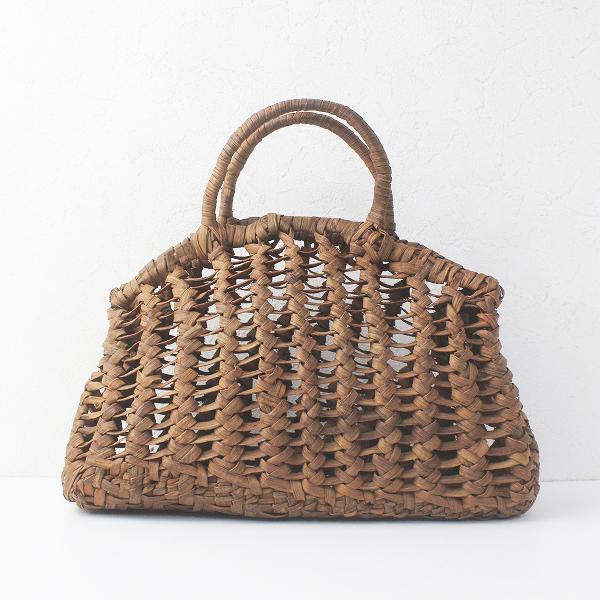 伝統工芸品透かし編み かごバッグ