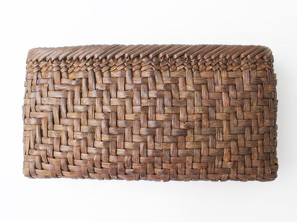 伝統工芸品山ぶどう 網代編み かごクラッチバッグ