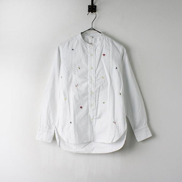 45rpm2020SS オックスフォードの小花刺繍スタンドシャツ(再び)