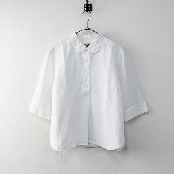 MARGARET HOWELL 2018SS MARGARET HOWELL マーガレットハウエル SHIRTING LINEN 丸襟 シャツ
