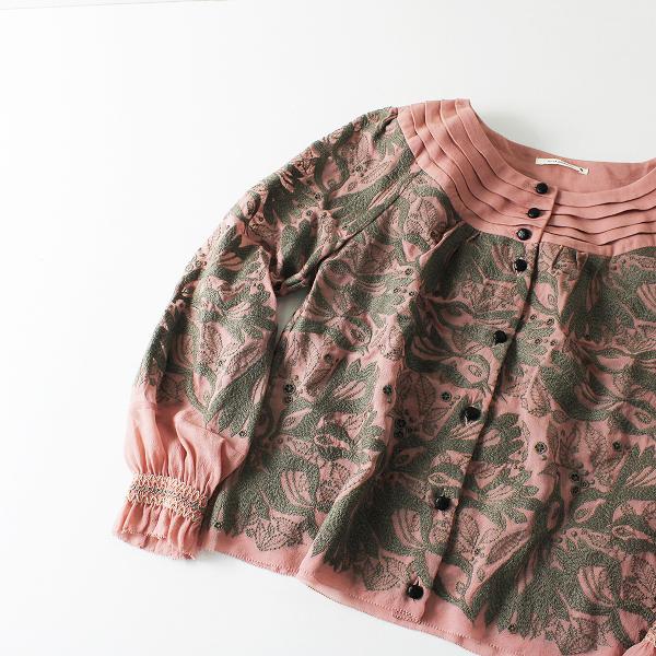 mina perhonen ミナペルホネン carnival 刺繍 シルク ブラウス