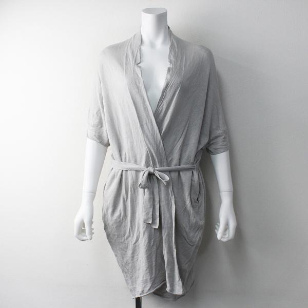 evam eva エヴァムエヴァ linen cocoon gown リネンコクーンガウン
