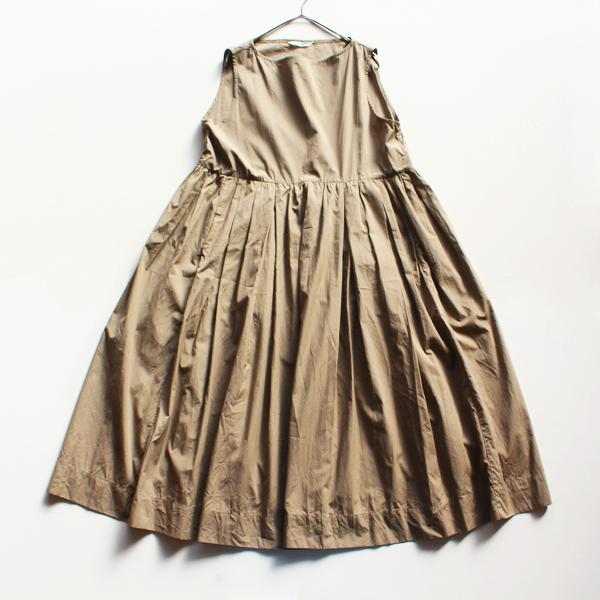 TOUJOURSTOUJOURS トゥジュー Sleeveless Pleated Boat Neck Dress スリーブレスプリーツボートネックドレス