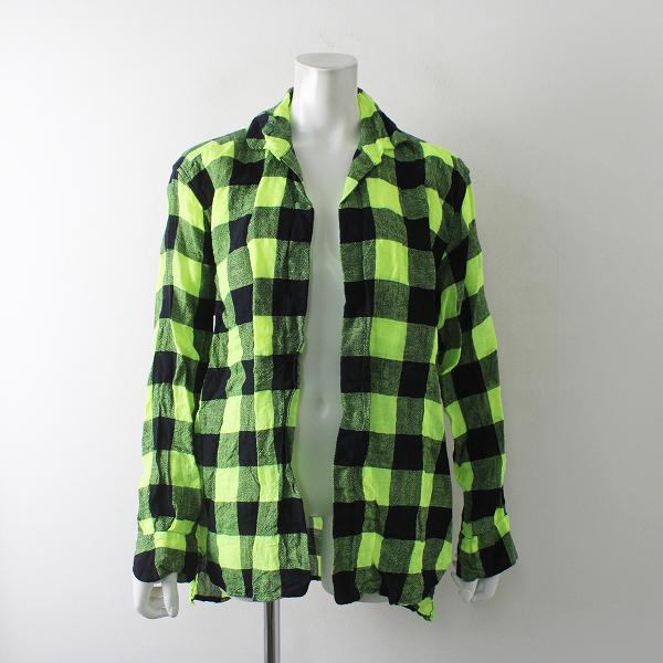 2019AW j.s.LUXE DANIELA GREGIS ダニエラグレジス ウールリネンブロックチェックシャツジャケット