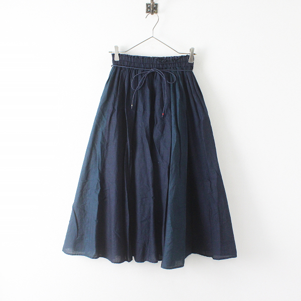2021春のよそおい掲載 Pal'las Palace パラスパレス PP38.5インディゴガーゼギャザースカート