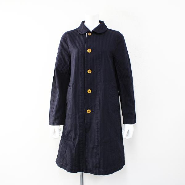 COMME des GARCONSCOMME des GARCONS コムデギャルソン AD2015 ストライプ 丸襟コート