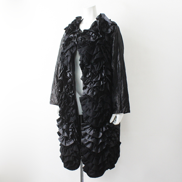 COMME des GARCONSCOMME des GARCONS コムデギャルソン 2018AW LOOK掲載 ティアードフリルキルティングコート