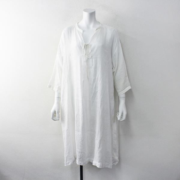 2018SS nest Robe ネストローブ リネン スキッパーシャツ ワンピース